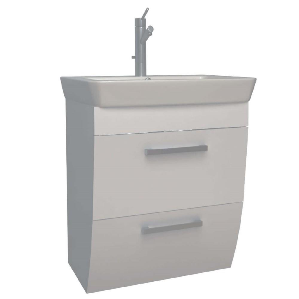 ROUND Мебел за баня с умивалник 55 - цветен