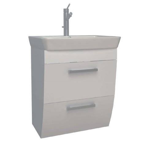 ROUND Мебел за баня с умивалник 55