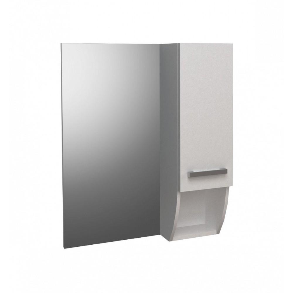 ROUND Мебел за баня с огледало и рафт 55