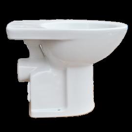 ADELE Подова тоалетна с хоризонтално оттичане в комплект с пластмасово казанче и капак