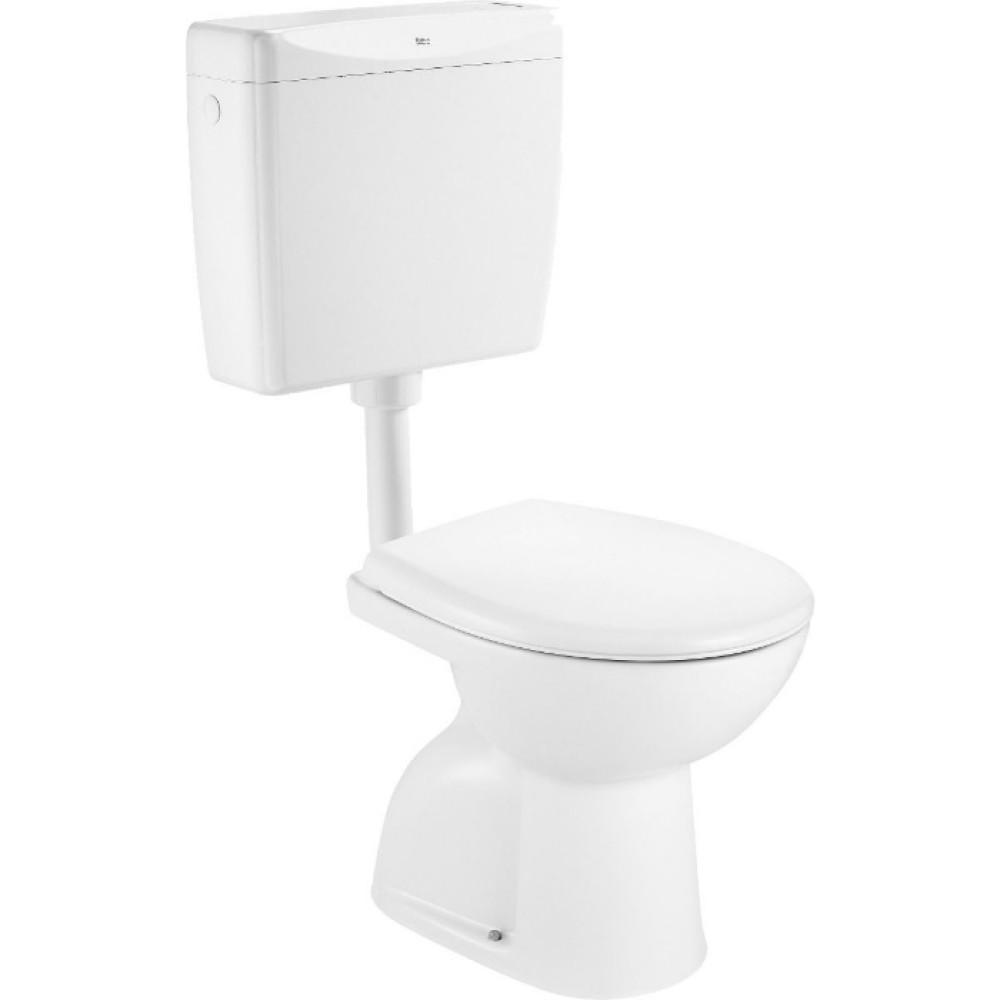 ADELE Подова тоалетна с вертикално оттичане в комплект с пластмасово казанче и капак
