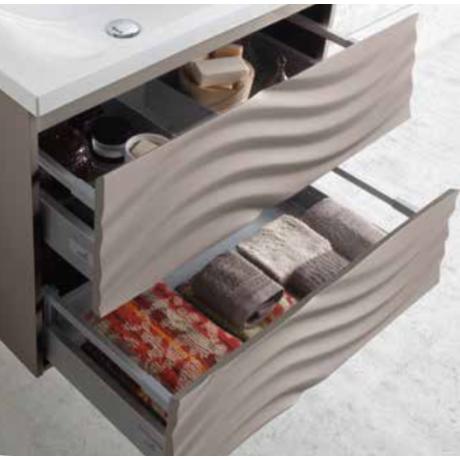GENOVA 90 мебел с умивалник за баня цвят графит