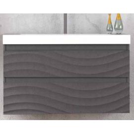 GENOVA 80 мебел МДФ см с умивалник цвят графит мат