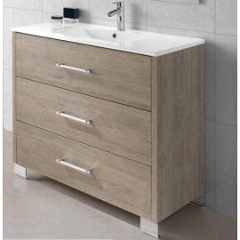 RIGA мебел 100 см за баня стоящ с 3 чекмеджета