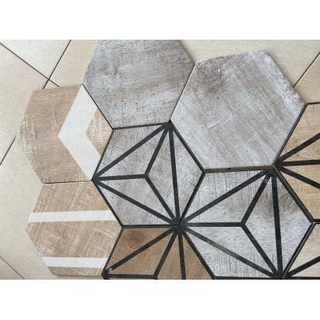 Гранитогрес хексагонален TRIBECA GREY 25 x 22