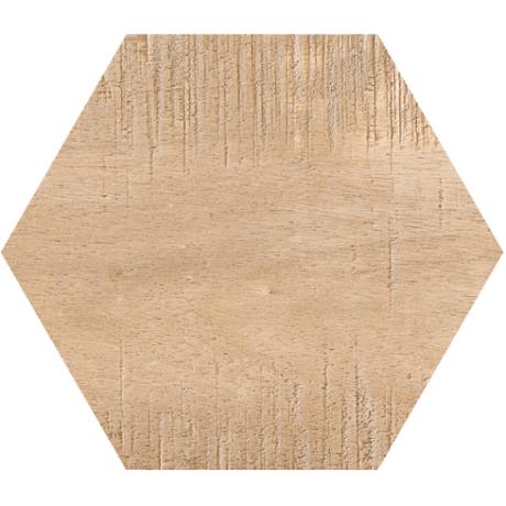 Гранитогрес хексагонален SAWNWOOD BROWN 25 x 22