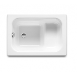 Banaseo Правоъгълна малка седяща чугунена вана 100 х 70 см