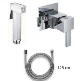 Интимен душ CARRE с вграден смесител квадратна форма  подвижен душ стоп функция