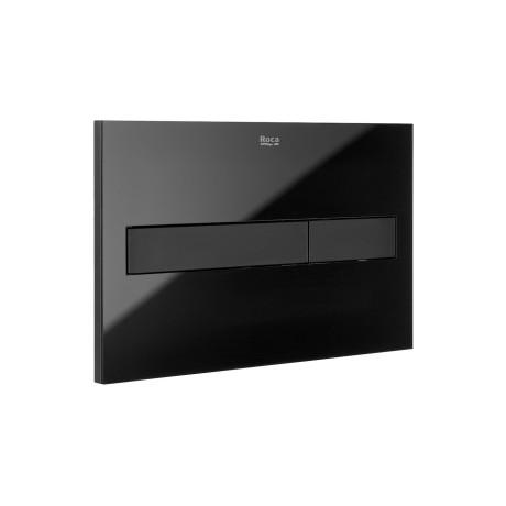DUPLO Бутон за вградено казанче PL7 Dual Black Glass