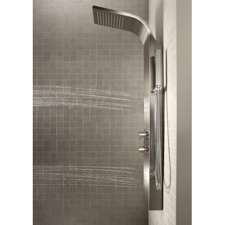 ESSENTIAL душ-колона с термостат и хидромасажни дюзи от неръждаема стомана