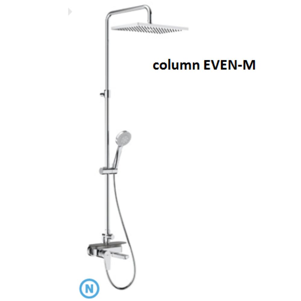 EVEN-M SQUARE Колона за душ с чучур