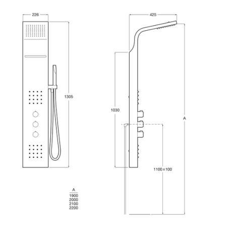 EVOLUTION Хидромасажна термостатична колона