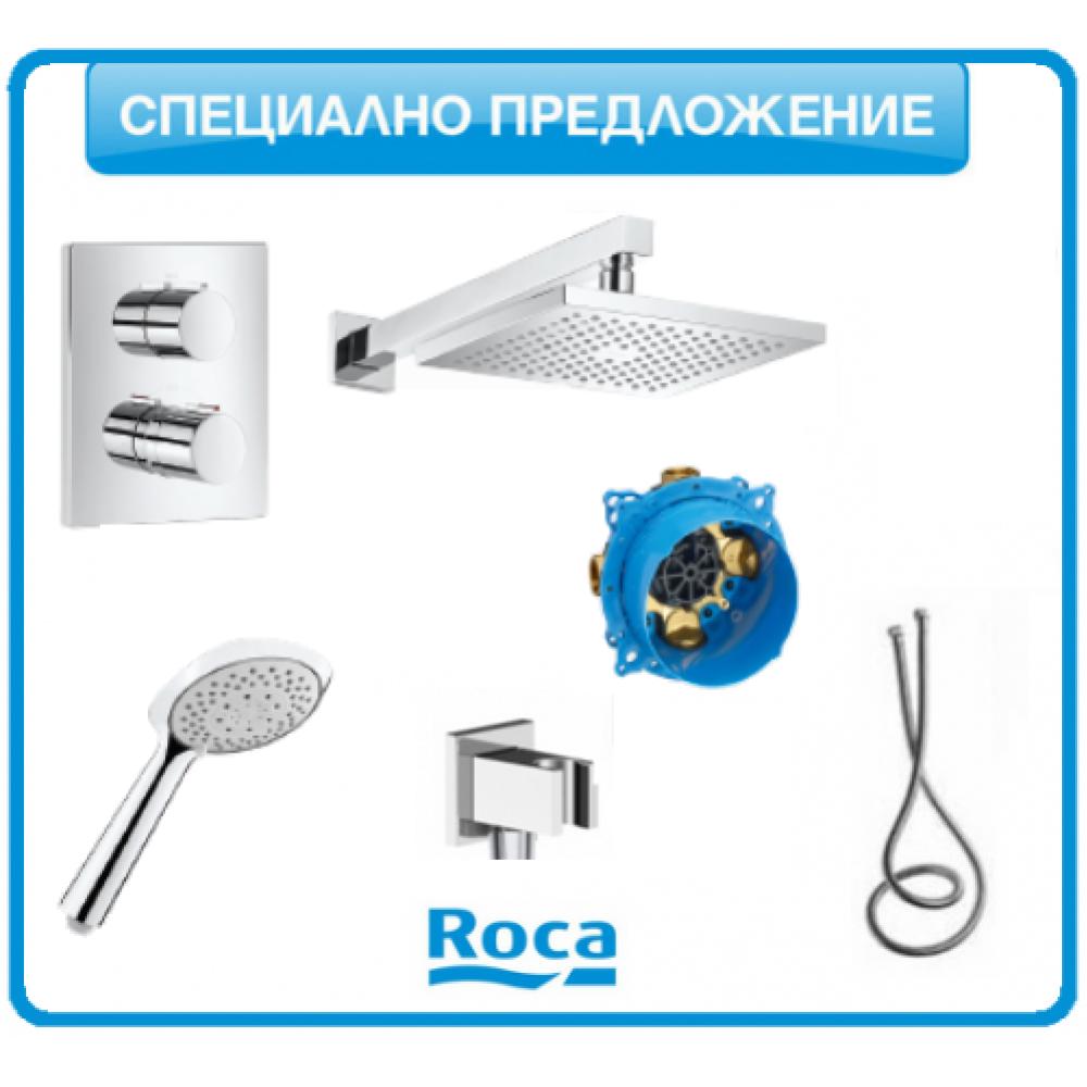 Душ-система Roca T-2000 с подвижен душ и пита