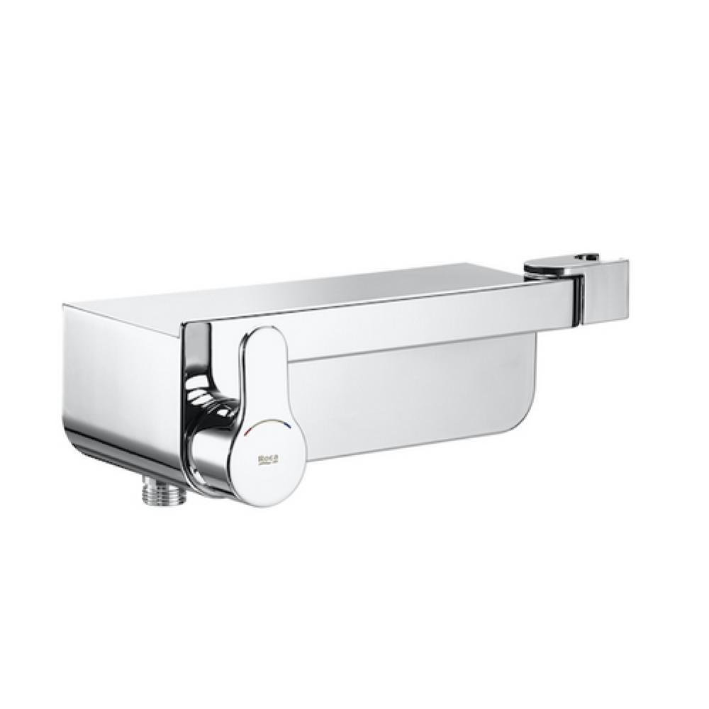 Deck-S Външен смесител за душ с полица и интегриран държач за душ слушалка