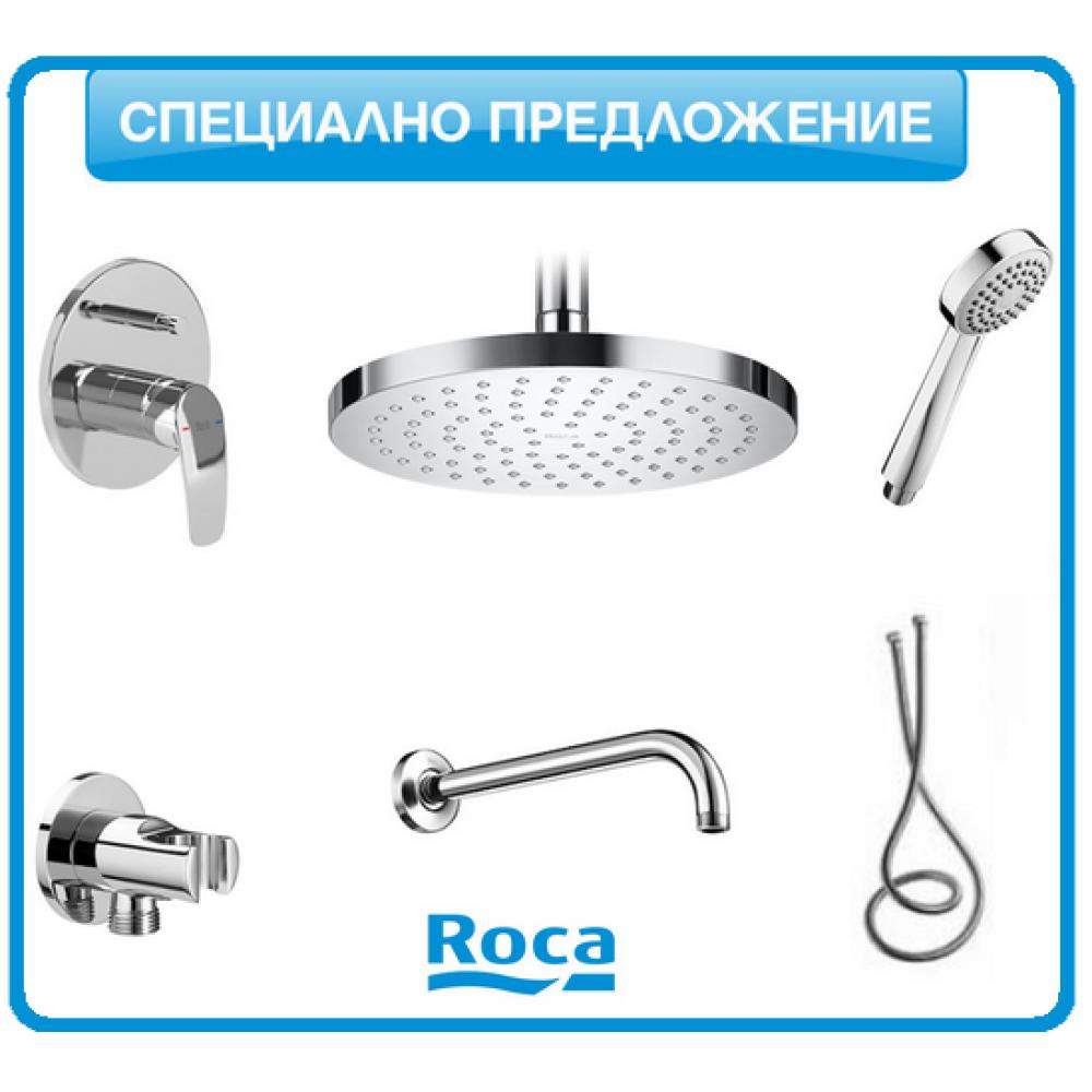 Душ-система Roca MONODIN с подвижен душ и душ-пита