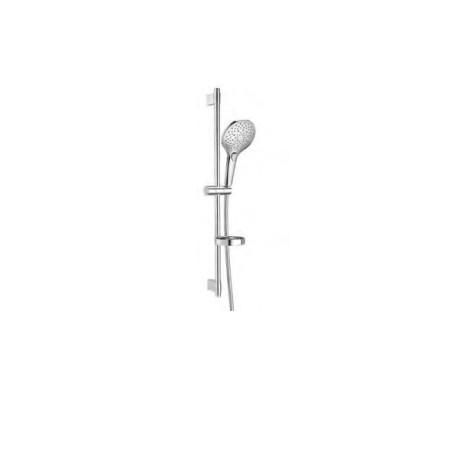 PLENUM Round 140/3 - Душ комплект с душ слушалка и тръбно окачване
