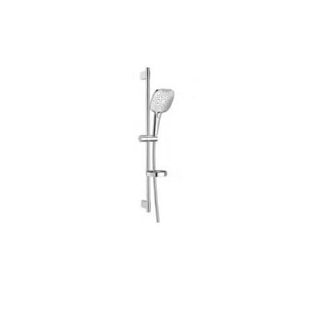 PLENUM Square 140/3 - Душ комплект с душ слушалка и тръбно окачване