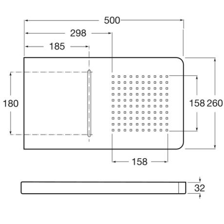 Puzzle Душ глава с каскада 500 х 260 мм от неръждаема стомана за монтаж на стена
