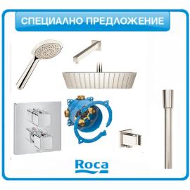 Душ-система Roca T-1000 с подвижен душ и пита 30/30
