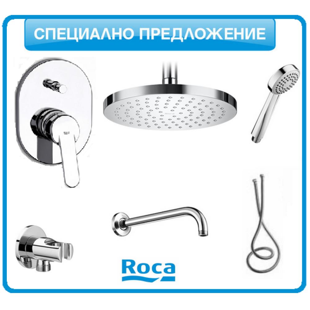 Душ-система Roca VICTORIA с подвижен душ и душ-пита