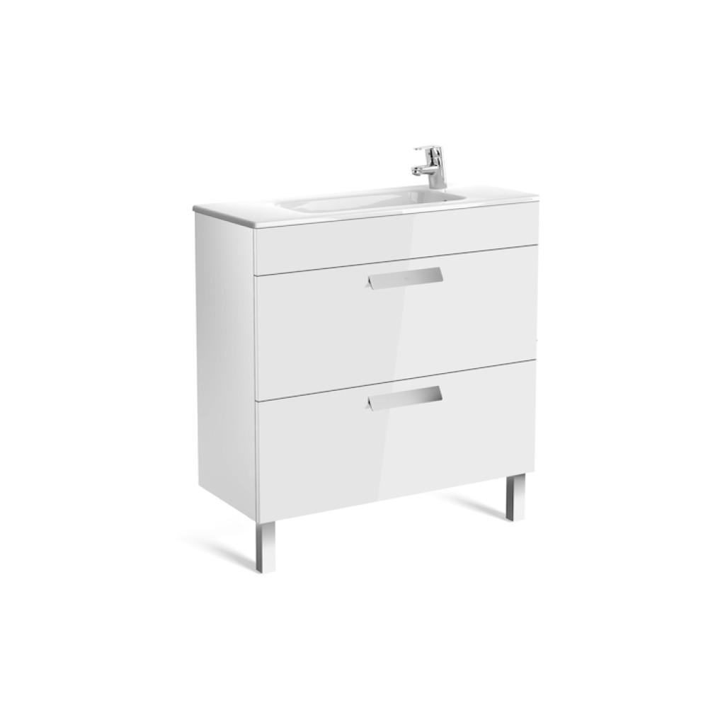 Debba Unik Compact Мебел за баня с 2 чекмеджета и умивалник 80