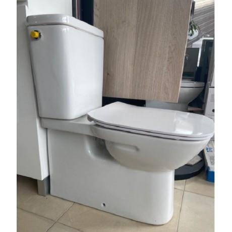 DEBBA SQUARE долепен моноблок със странично захранване и СЛИМ седалка плавно падане
