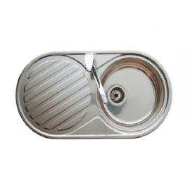 DUO кухненска мивка с ляв отцедник овална форма 84/44 за вграждане в плот