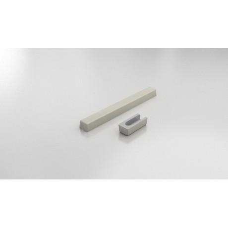 FAT Праг за душ-кабина 140х55 от Полимермрамор - Заоблен Край