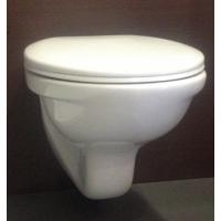 NEO Стенна тоалетна със седалка и капак с пласмасови панти.