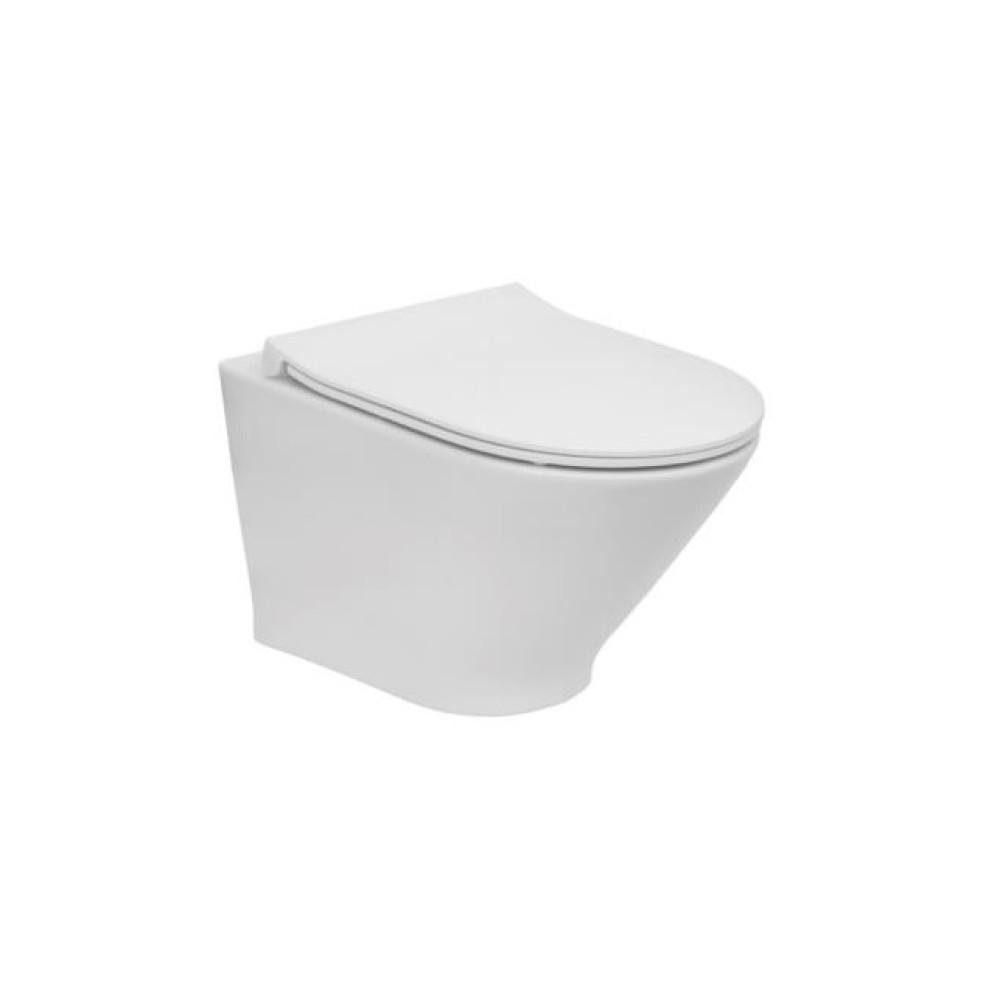 GAP Compact Rimless Стенна тоалетна SLIM капак със забавено падане