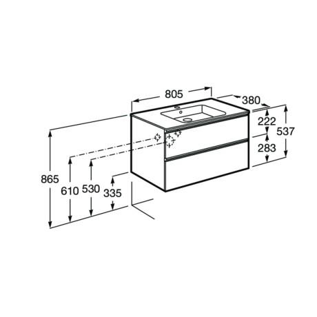 GAP Compact Мебел с вграден умивалник 80