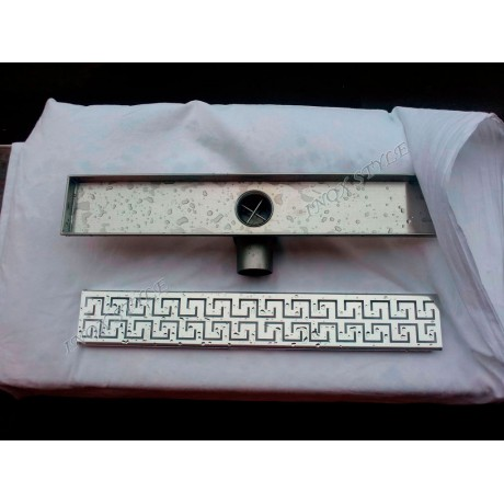 Inox Style Double Versace Линеен сифон 1085mm с фланци