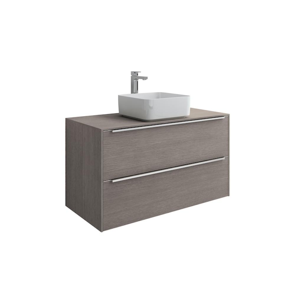 INSPIRA Мебел за умивалник върху плот 80 x 50 Дъб