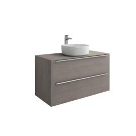 INSPIRA Мебел за умивалник върху плот 100 x 50 Дъб