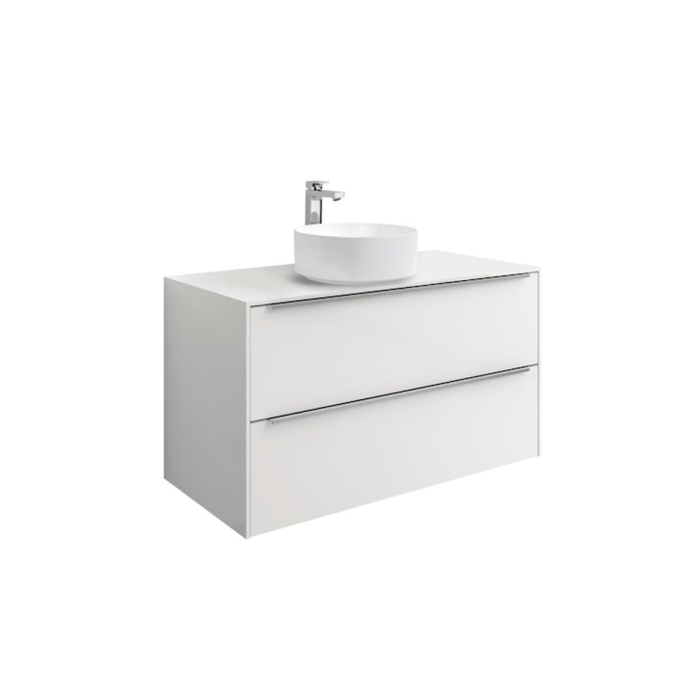 INSPIRA Мебел за умивалник върху плот 80 x 50 Бял гланц