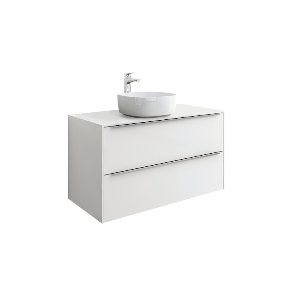 INSPIRA Мебел за умивалник върху плот 60 x 50 Бял гланц