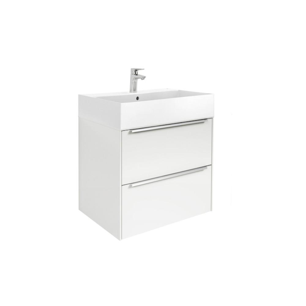 INSPIRA Мебел с умивалник 80 x 50 Бял Гланц