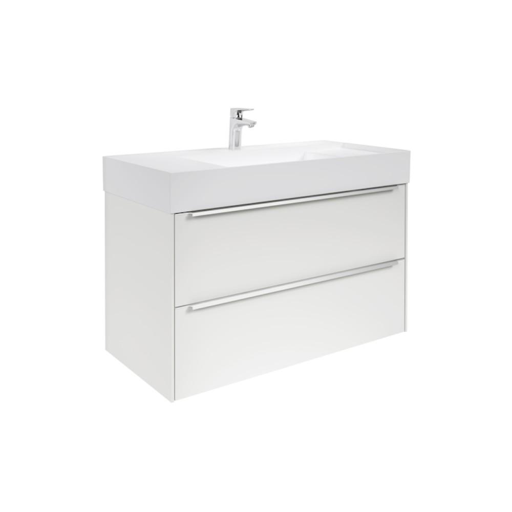 INSPIRA Мебел с умивалник 100 x 50 Бял Гланц