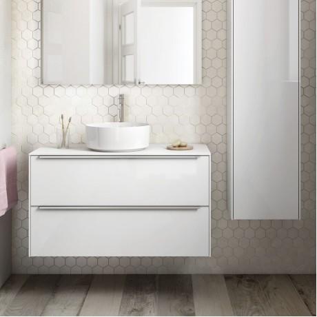 INSPIRA Мебел за умивалник върху плот 100 x 50 Бял гланц