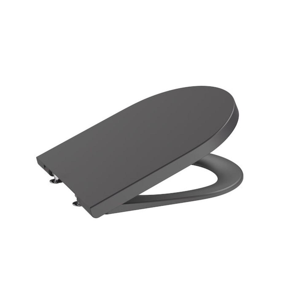 INSPIRA Round седалка и капак с плавно затваряне, черен оникс