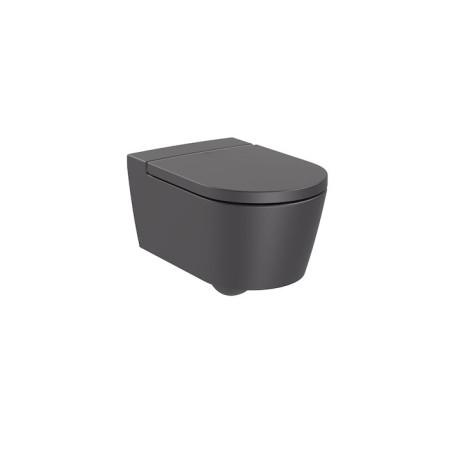 INSPIRA Round стенна тоалетна, черен оникс