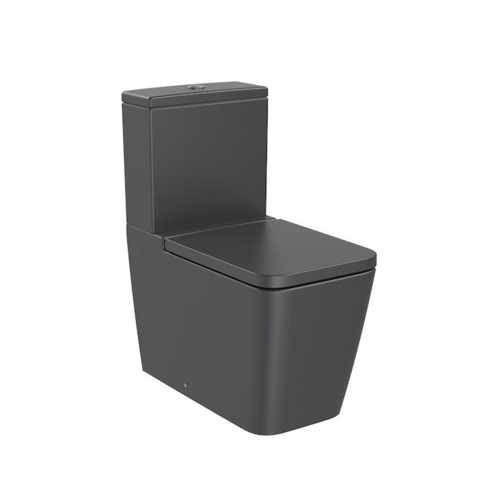 INSPIRA Square тоалетна чиния за моноблок, черен оникс
