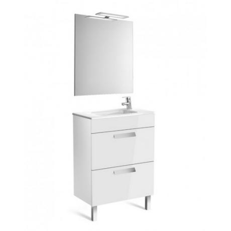 Debba Pack Compact Мебел за баня с умивалник, огледало и аплик 60