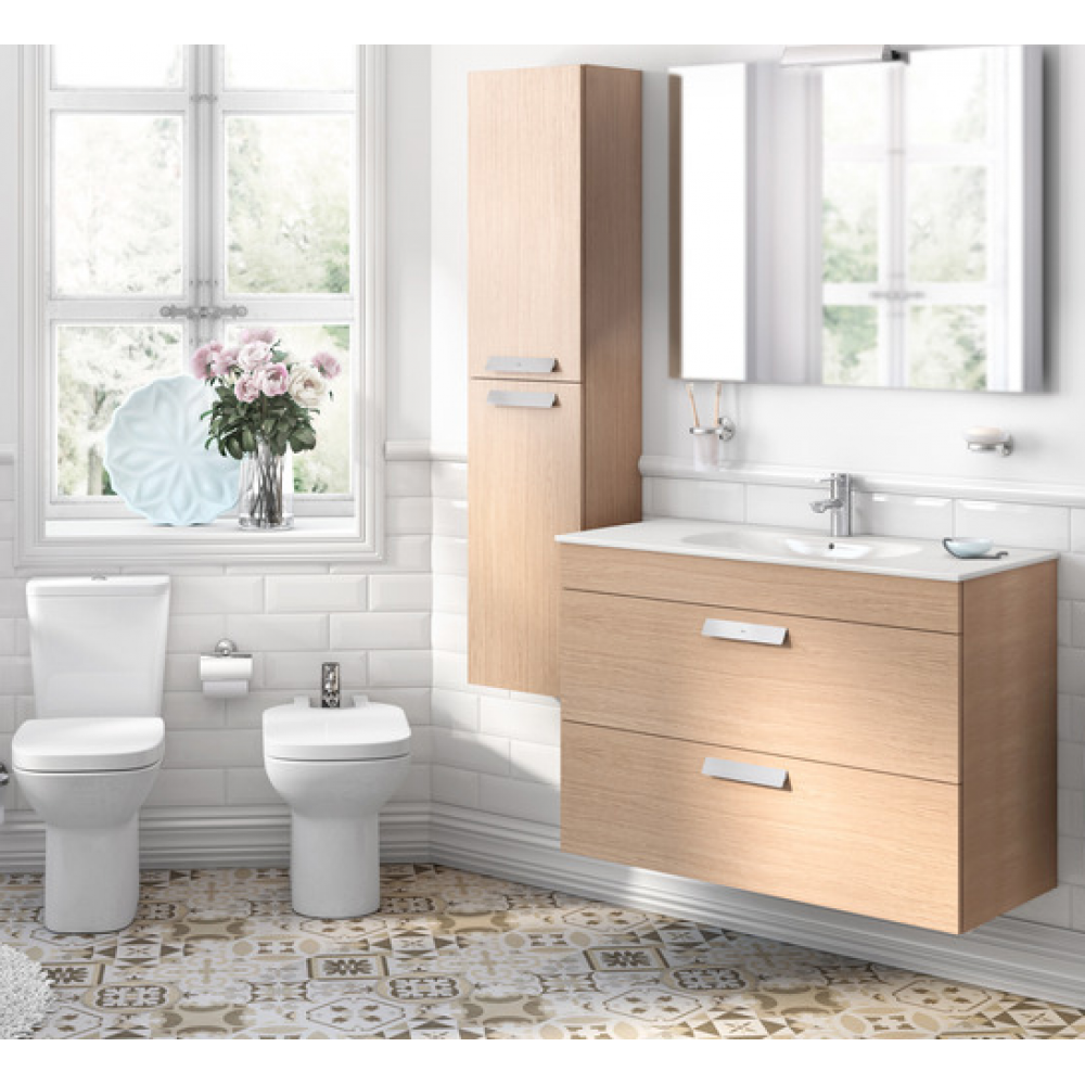 DEBBA Мебел стандартен с умивалник  80 / 46 цвят дъб