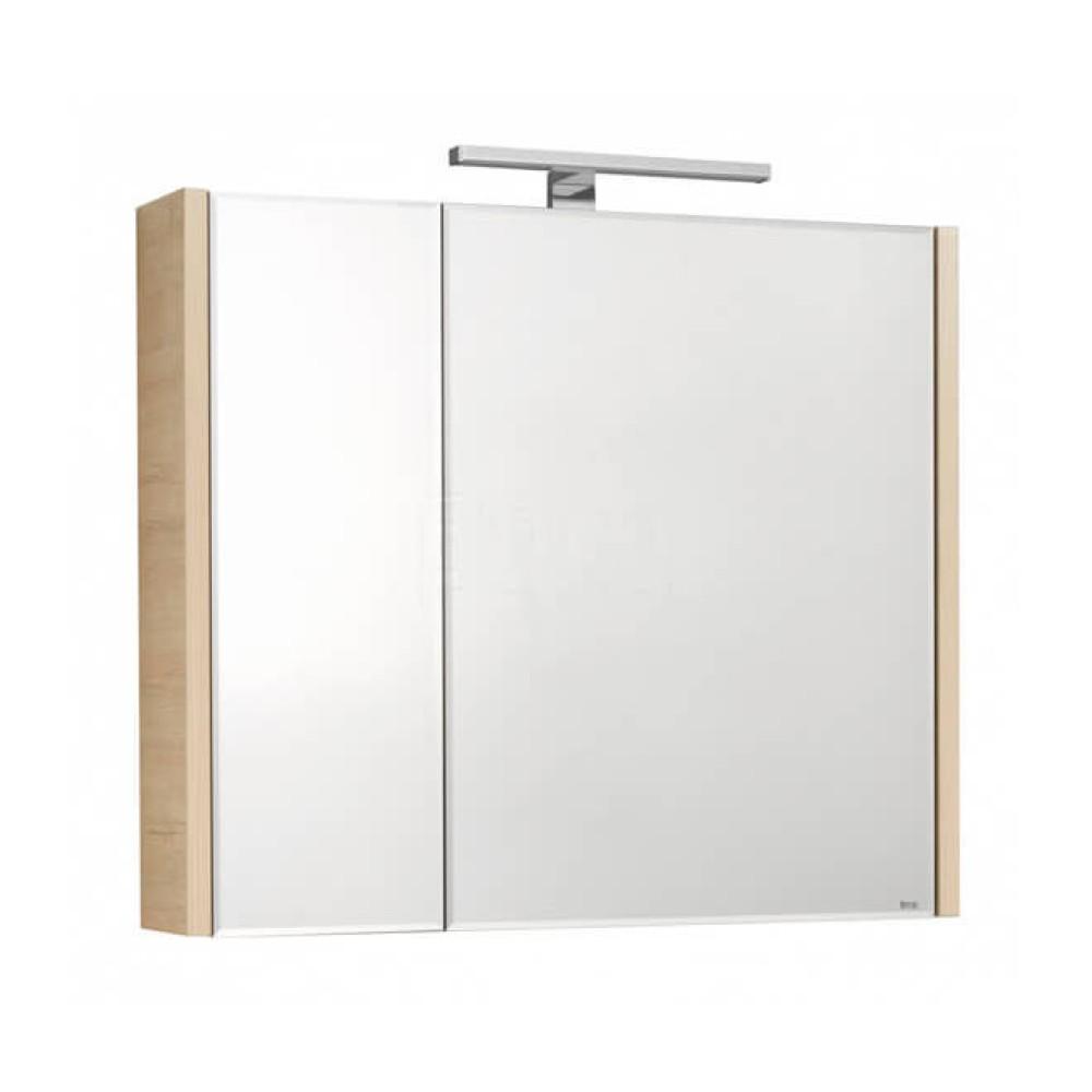 Roca ETNA 80 шкаф за баня с огледало, дъб верона