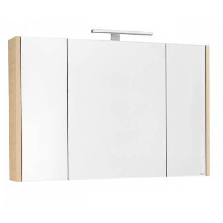 Roca ETNA 100 шкаф за баня с огледало, дъб верона