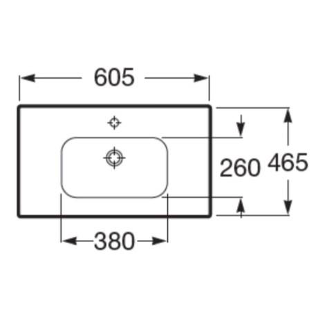 Roca LAGO 60, мебел с умивалник, светъл дъб