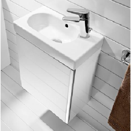 MINI бял мебел с умивалник за стенен монтаж