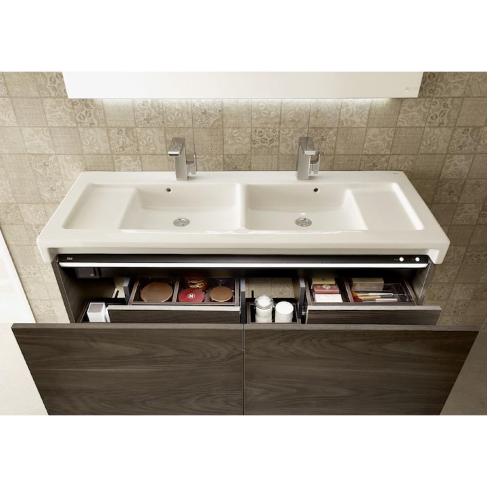 Мебел за баня с умивалник STRATUM 130  двоен умивалник