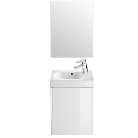 MINI мебел с умивалник и огледало в цвят БЯЛ ГЛАНЦ